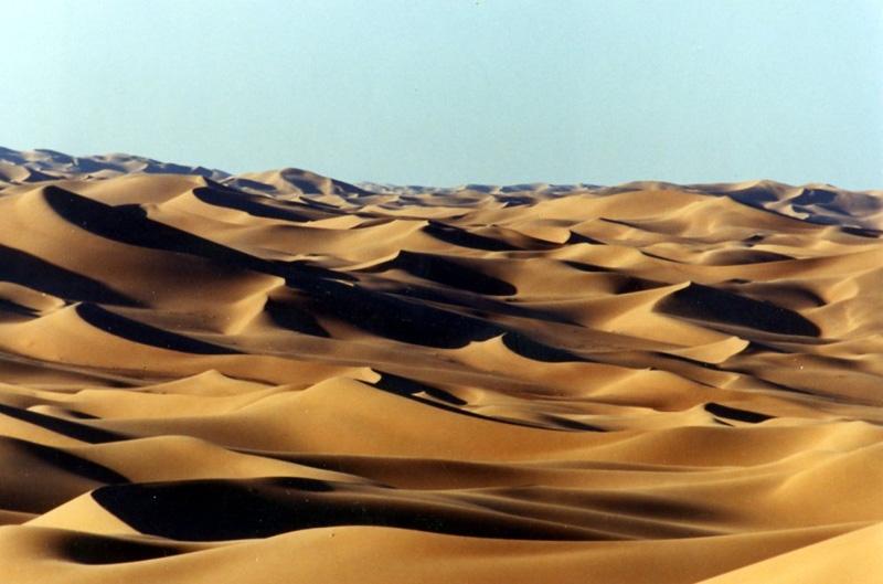 Distesa di dune nel Sahara