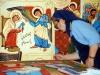 Sorella Maria Carla mentre dipingeva icone