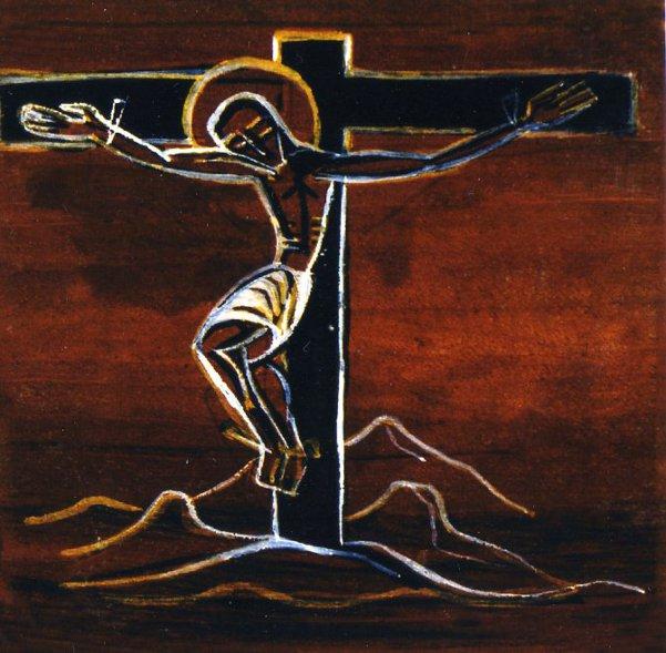 Via Crucis- Gesù in croce