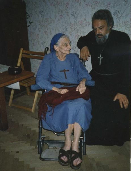 1989- Tre-fontane, con padre Alex Men