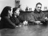 1962- a Tre Fontane, con sorella Jeanne e padre Voillaume