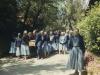 1989- Tre-fontane, in cammino verso la grotta cimitero