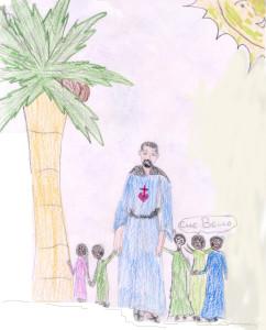 Charles e i bambini- disegno dei ragazzi