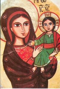 Icona-Maria con bambino- Egitto