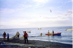 Martinica- con i pescatori