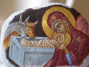 Pittura su pietra- Natività