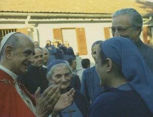 con Paolo VI a Tre Fontane