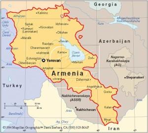 Mappa dellArmenia