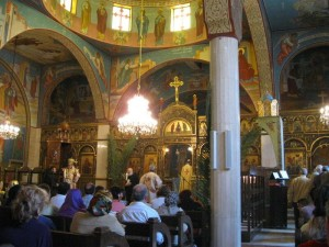 Liturgia bizantina a Gerusalemme