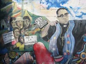 Romero nel murales