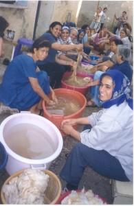 Tunisia- lavaggio della lana