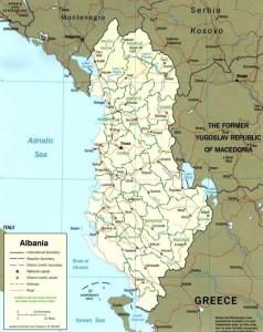 mappa Albania