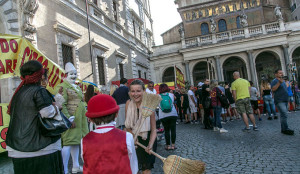 a piazza s. Maria in Trastevere